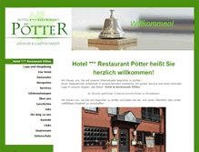 Tablet Preview of hotelpoetter.de